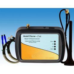 GSM hőmérő, hőmérséklet riasztó és fűtés távirányító MobilTherm-2-XLA