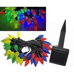 Napelemes Karácsonyi LED égősor, Kerti Fényfüzér, Kültéri, Toboz NLED50PineCone