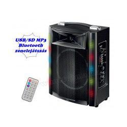 Hordozható party hangszóró USB MP3 Bluetooth Multimédia hangfal FM rádióval és Karaoke funkcióval PAR16BT