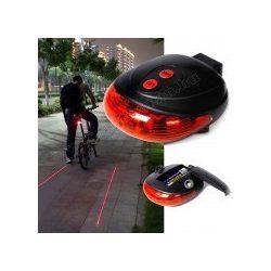 LED-es kerékpár hátsó lámpa lézer oldalfénnyel MR2614
