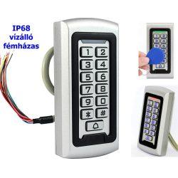 Kártyás és kódzáras Beléptető RFID-208-IP68