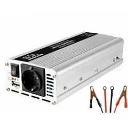 Feszültségátalakító, inverter, 12/230V 1000/2000 Watt, SAI 200 USB