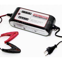 Intelligens automata akkumulátor töltő, csepptöltő és tápegység 12 V/8A Carstel 01.80.088