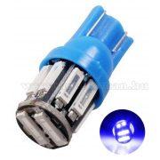 Autós LED izzó 10 db SMD LED-del kék, T1010SMD7014K