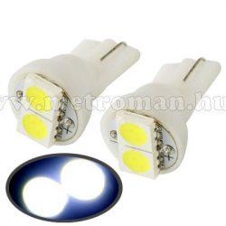 Autós LED izzó, 2 db szuperfényes SMD LED-del, T102SMD5050LED