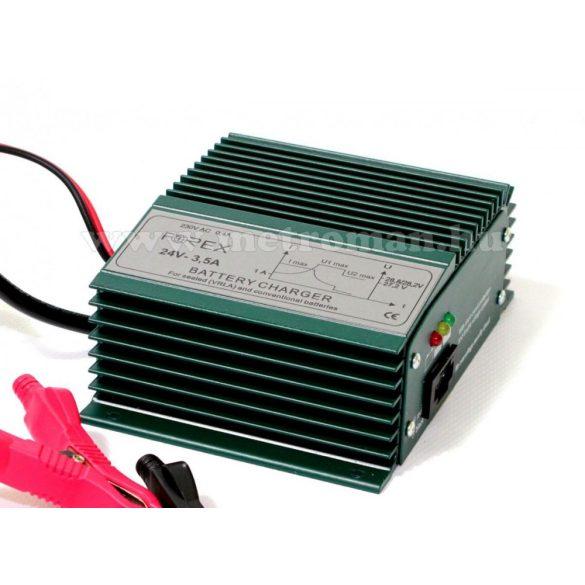 Beépíthető intelligens automata autó - Teherautó, hajó akkumulátor töltő, csepptöltő Forex T243,5