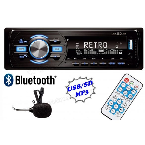 USB / SD MP3 Bluetooth autórádió VoxBox VB 4000 BT