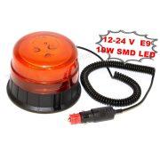 Megkülönböztető jelzés,  nagyteljesítményű LED villogó, narancs sárga, WAR11M 12/24V E9