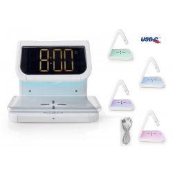 Vezeték nélküli telefontöltő és Ébresztőóra Q10W1WT